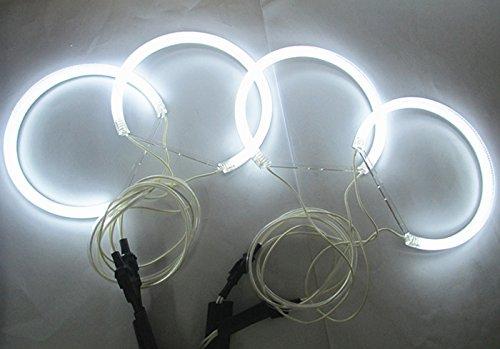 GFJMC 7000k White CCFL Angel Eyes Halo Rings for BMW E36 E38 E39 E46 with Projector Pre-facelift Error Free