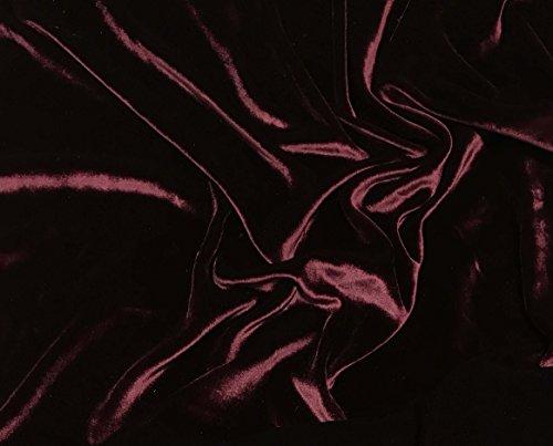 Burgundy Red - Silk Velvet Fabric
