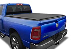 US Design Patented Cover is dual-coated and made out of heavy duty 24oz. marine-grade vinyl, with built-in horizontal crossbars that offer support when cover is lying flat; and roll up with the tarp to provide full bed access when in need. Also comes...