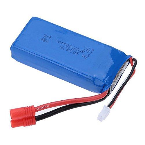 SODIAL RC Part 7.4V 2000mAh 25C Batterie Lipo (Fiche banane) pour Syma X8C P9K0
