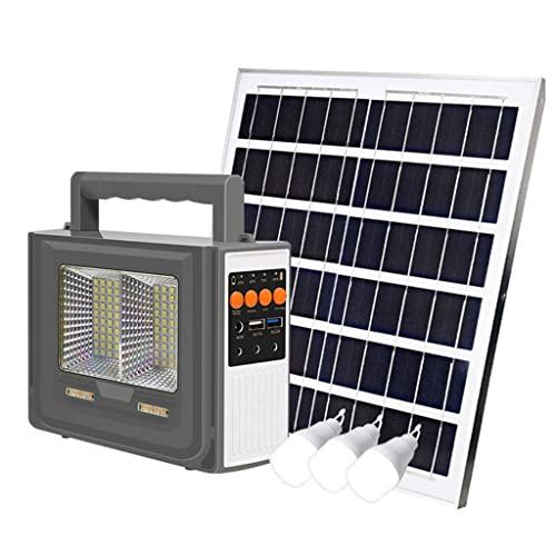 YYWER Central eléctrica portátil con Panel Solar de 15w Incluido, Banco de energía portátil para Exteriores, luz de Emergencia para el hogar Grey