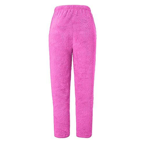 MERICAL Le Donne Pelliccia Calda Sport Fitness Leggings Invernale Fleece Legging Pants(Rosacaldo,S)