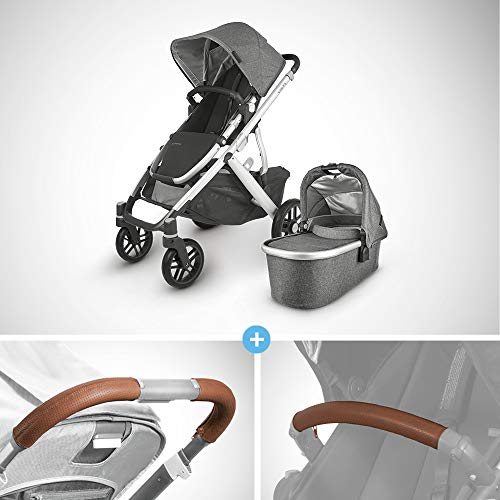 Great Features Of UPPAbaby Vista V2 Stroller - Jordan (Charcoal Melange/Silver/Black Leather) + Leat...