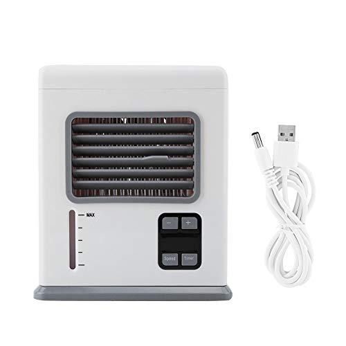 Sollmey Aparatos Electrodomésticos-Mini Aire Acondicionado Portátil Humidificador Ventilador de Enfriamiento de Aire