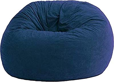 4 ft Bean Bag Chair Cover Only, Large Washable Furniture Bean Bag Replacement Cover Without Bean Filling by Ink Craft (Navy Blue)