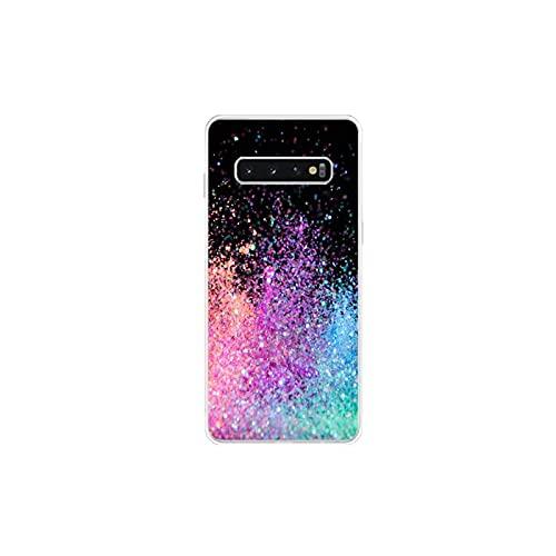 Moda colorido teléfono caso transparente para Samsung S20 10 plus S10 E (lite) S6 S7 edge A 71 21S S8 S9 Plus-a3-para Galaxy S7 edge