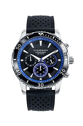Viceroy 401125-57 Reloj de Hombre Cuarzo Acero Caucho Tamaño 44 mm