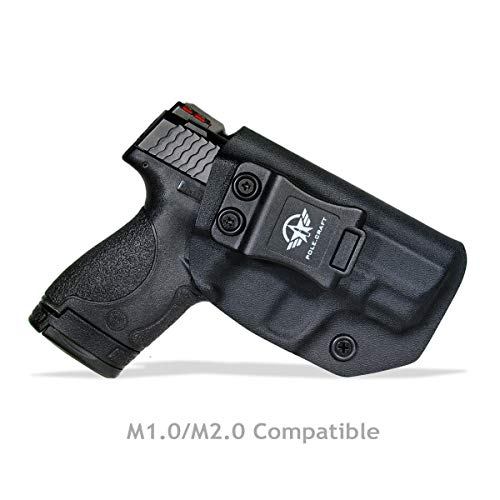 PoLe.Craft Kydex IWB Holster For Smith & Wesson M&P Shield M2.0 9mm 40 S&W/Crimson Trace Laser/Integrated CT Laser - Funda Pistola Case Inside Waistband Concealed Carry Holster Guns Accessories