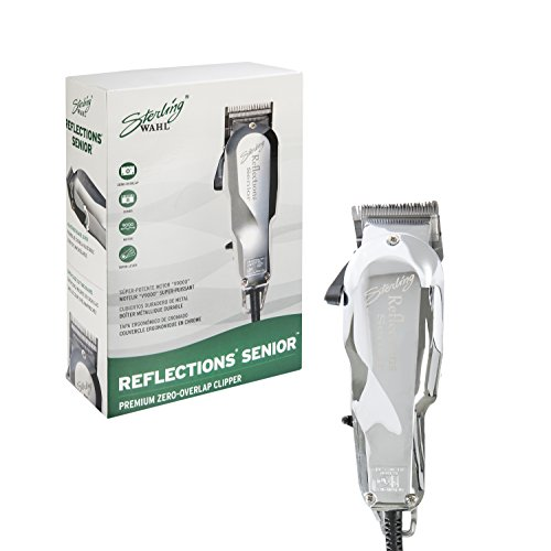 Wahl Professional Reflections Senior Clipper with Metal Housing, Chrome Lid#8501