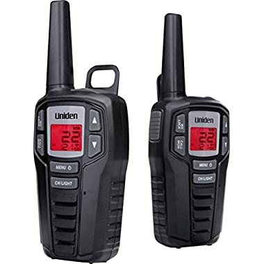 Uniden SX237-2CK 23-Mile MicroUSB FRS/GMRS Two-Way Radios with Charging Kit, 2-Pack, Black