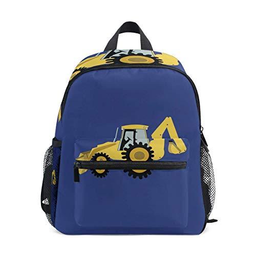 Mini-Rucksack mit Konstruktion Baggerlader Digger Print, Schultasche für 1-6 Jahre alt