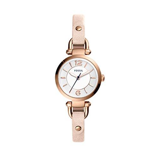 Fossil Damen Analog Quarz Uhr mit Leder Armband ES4340