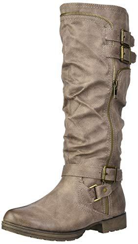 Fergalicious Women's Delta Knee High Boot, Grey, 7