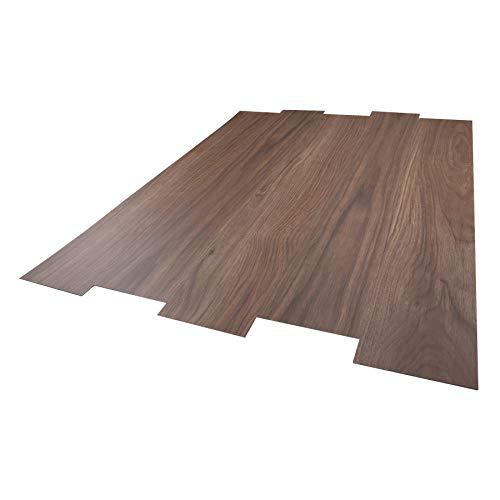 CO-Z 16 PCS 24 Square Feet, Odorless Vinyl Floor Planks Adhesive Floor Tiles 2.0mm Thick, Environmental-Friendly (Walnut Brown)