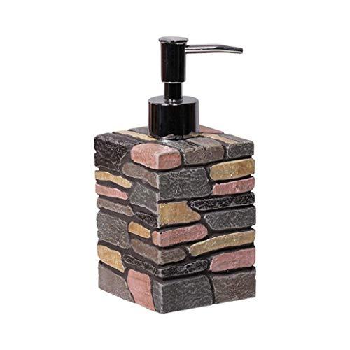 SMEJS Dispensador de jabón, dispensador de jabón cuadrado para encimera, apto para todo tipo de jabón líquido o loción en el baño