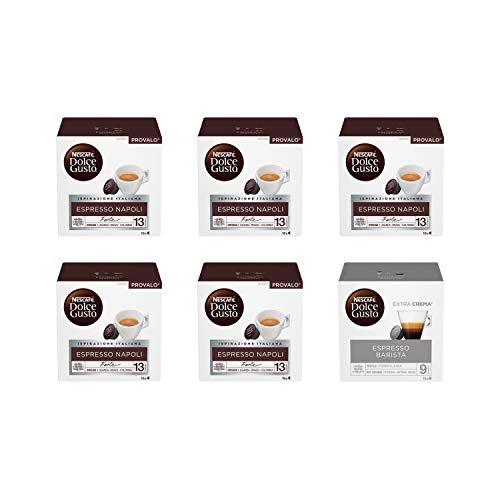 Nescafé Dolce Gusto Espresso Napoli 5 Confezioni, Espresso Barista 1 Confezione Caffè (96 Capsule)