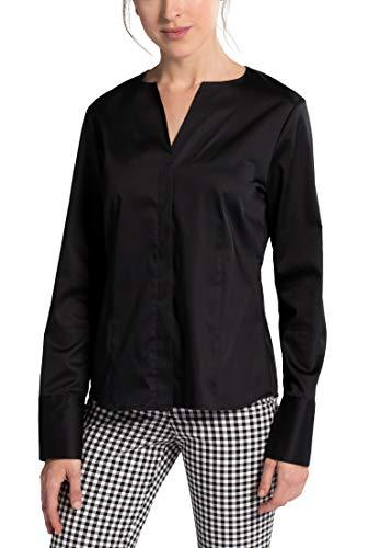 eterna Damen Bluse Langarm Modern Fit Black, Größe:46, Farbe:39 schwarz
