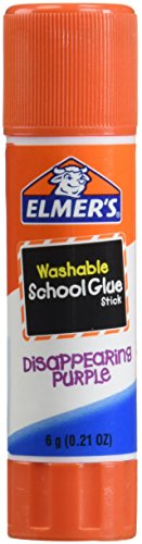 Elmer#039s Disappearing Purple School Glue Sticks 021 Ounce Each Pack of 4