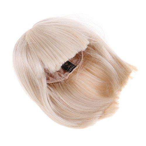 15cm Puppen Lockiges Wavy Perücke Haarteil Puppen Für 1//3 1//4 1//6 Puppen Haar