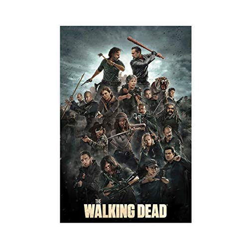 TV Show The Walking Dead Poster (10) Canvas Poster Wall Art Decor Print Picture Paintings for Living Room Bedroom Decoration DONGDA Poster Unframe:16×24inch(40×60cm)