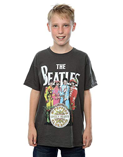 Zomsun Boys SGT Pepper T-Shirt Light Graphite 5-6 Years Inspired Custom Gift