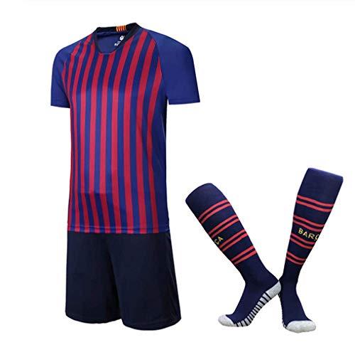 XIAOL 2019 Kinder Fußball Trikots Sets Survêtement Fußball Kit Männer Kind Futbol Laufjacken Jungen Mädchen Training Trainingsanzug Frei Socken,18-XL