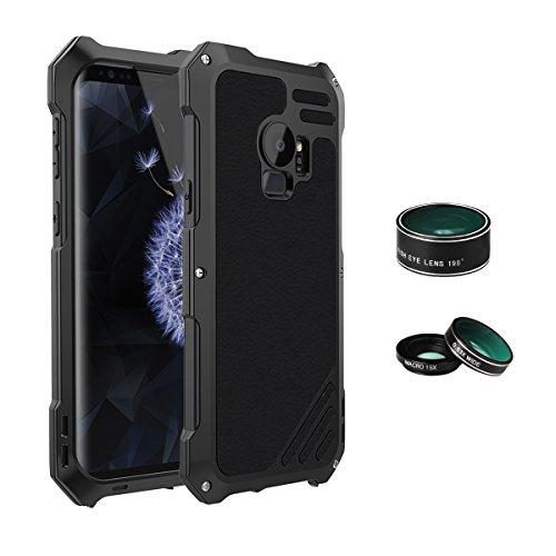 Arblove 3-in-1 beschermhoes voor Samsung Galaxy S9, waterdicht, met 3 camera's, ultralicht, IP 54 360 graden, aluminium, anti-aging en anti-shock, bescherming rondom