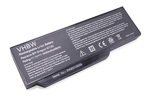 vhbw Li-Ion Akku 4400mAh (11.1V) für Notebook Laptop Medion Akoya E8410, P7610, P8610, P8611, P8612, P8614, X8610 wie MIM2270, BP3S3P2250, u.a.