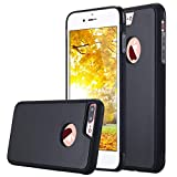 Coque Protection Anti-gravité pour iPhone 8 Plus/iPhone 7 Plus, Anti-Gravity Selfie Housse Hands Free Nano Ventouse Suction iPhone 7 8 Plus Case Stick to Glass, Tile, Car GPS, Most Smooth Surface