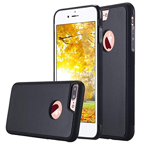 Hands Free Anti-Gravity Selfie Sticky Phone Case Custodia for iPhone 7 Plus/iPhone 8 Plus, Magical Nano Sticky Hard Cover Great When Cooking/Makeup/Brushing Teeth/Using Bathroom