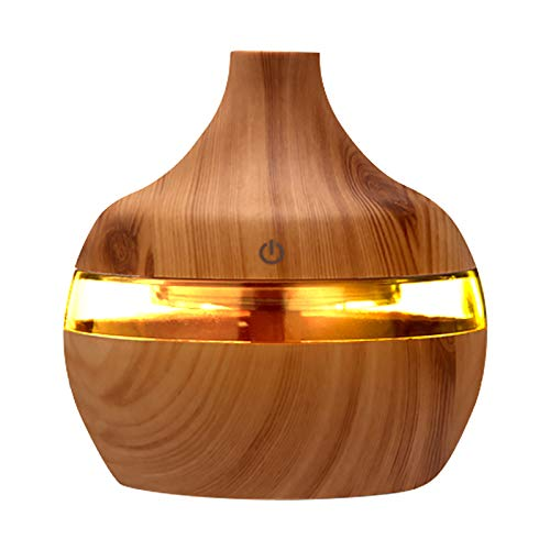 Luft Aroma ätherisches Öl Diffusor, LED Aroma Diffuser Luftbefeuchter Humidifier, Gefertigt Diffusor für ätherische Öle, 7 Farbe Licht Vintage Aromatherapie für Zuhause Büro oder Yoga