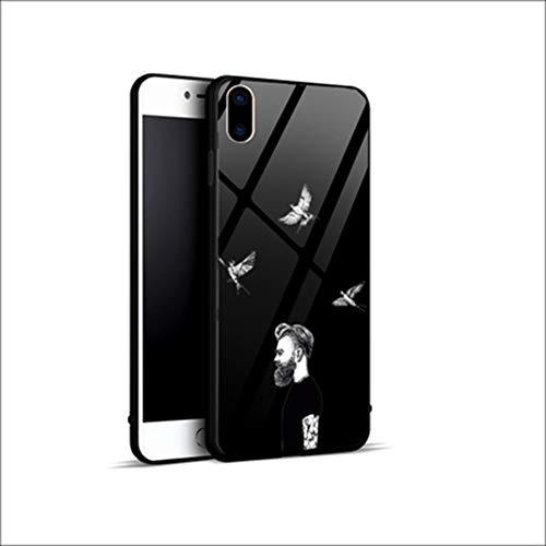 Beschermhoes iPhone XS Max, beschermhoes voor iPhone XR, hoog meisje, koude hoes, bescherming van de achterkant van gehard glas, stootvast, siliconen, TPU, zachte bumper voor Apple iPhone XS/X/7/8