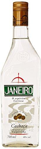 Janeiro Cachaça brasilianische Spirituose – Zuckerrohr-Brand mit frischem, ausgeglichenen Geschmack – Alkoholisches-Getränk und Cocktailzutat für Caipirinha oder Batida – 1 x 0,7 L