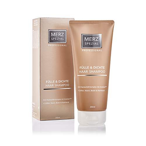 Merz Spezial Professional Haar Shampoo Fülle & Dichte - für mehr Haarwachstum & Volumen mit Keratin, Koffein, Biotin (1 x 200 ml)