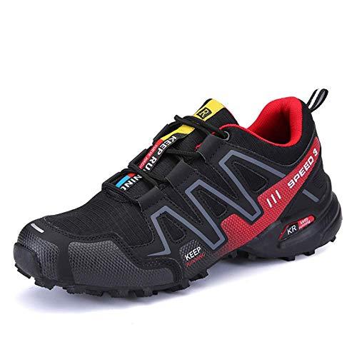 IDE Play Lame extérieur Hommes Occasionnels Chaussures légères randonnée Formateurs été Printemps Low Rise Chaussures de Sport Chaussures Route Chaussures de Marche Gym Chaussures,Rouge,46