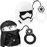 2X Carcasa Protectora para Auriculares inalámbricos Star Wars con Dibujos Animados Apple Airpods 1 y 2 Funda Protectora Adecuada como Regalo de Recuerdo para Parejas