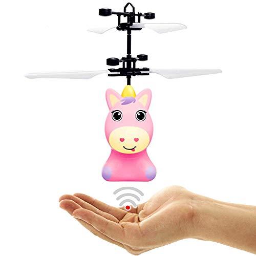 Fliegendes Einhorn Pegasus Unicorn Pony mit Hellen LEDs (Pink) Einfach zu Steuern per Handbewegung Tolles Spielzeug für kleine und Erwachsene Girls