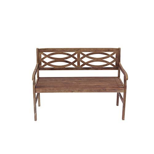 abc outdoor benches Courtyard Casual 5103 Gardena Collection Outdoor Bench, Brown