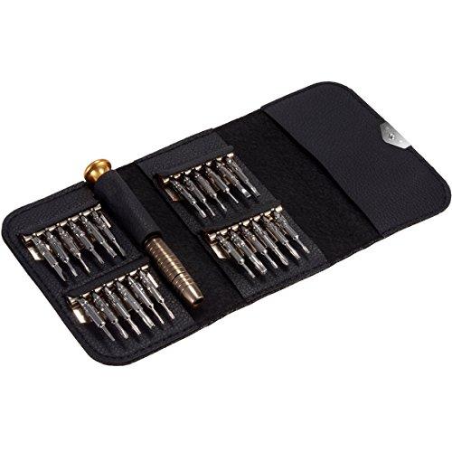 25-in-1 kleine precisieschroevendraaierset reparatieset voor bril, smartphone, mobiele telefoon, pc, laptop, elektronische apparatuur