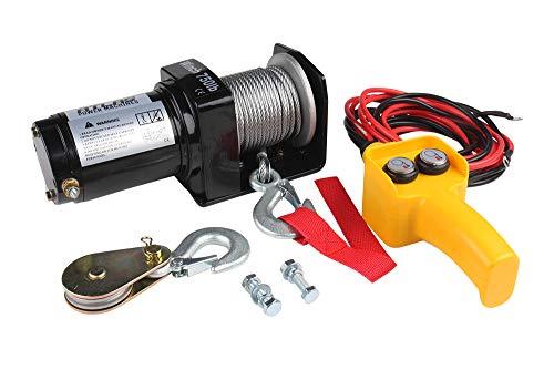 Atlas Power Machines 750 lb/2000 lb/9500 lb ATV/UTV Winden-Kit mit Stahlkabel (750 lb Kapazität)