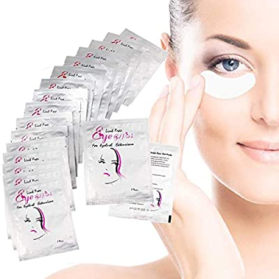 Eye Gel Pads, 50 Pairs of Eyelash Lash Extension Lint Free Under Eye Gel Pads Eye Patches For Pro Salon and Individual Eyelash Extension, Facials by Third A