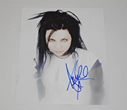 Evanescence Fallen Bring Me To Life Amy Lee Signed Autographed 8x10 Glossy Photo Loa