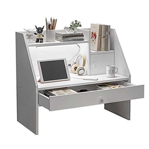 YGWANZD Escritorio para cama de dormitorio para estudiantes, escritorio para computadora con litera, mesa pequeña para aprender y almacenar fácilmente