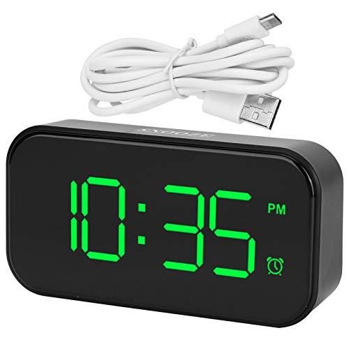 Fourket Reloj Despertador Digital Creativo Reloj Despertador Electrónico LED 12/24 Horas Adecuado para Dormitorio Hogar Oficina