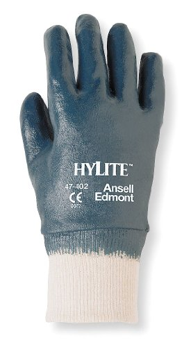 47-402 ANSELL SIZE 10 HYLITE ANTISTATIC NITRILE FULLY COATED KW GLOVES BLUE - CAT II - EN388-3111