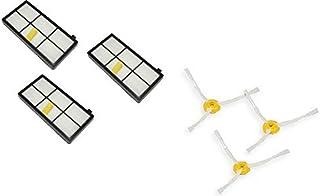 ルンバ800シリーズ専用ダストカットフィルター3枚 + ルンバ800シリーズ専用エッジクリーニングブラシ3本