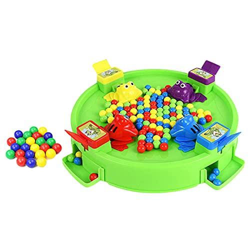 Domeilleur Hungry Frogs Juego de Mesa Familiar para 4 Jugadores Frog Toy Eat Beans Juegos de Escritorio para niños de 3 años y Mayores