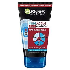 Garnier Skin Active Pure Active Intensive 3in1 Charcoal Anti-Blackhead, 150ml