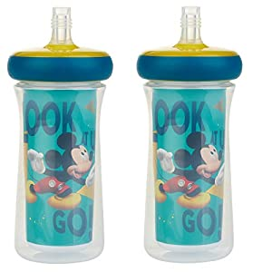 crib bedding and baby bedding the first years insulated straw cup, disney mickey mouse, 9 ounce (pack of 2)