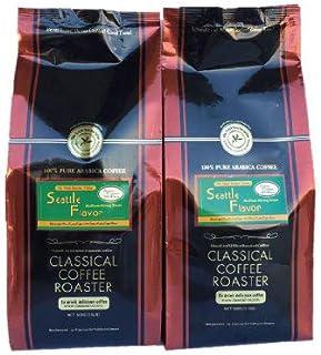 コーヒー豆 1kg セット シアトル フレーバー ブレンド コーヒー 1.1lb ( 500g ) 2個セット 【 豆のまま 】 クラシカルコーヒーロースター